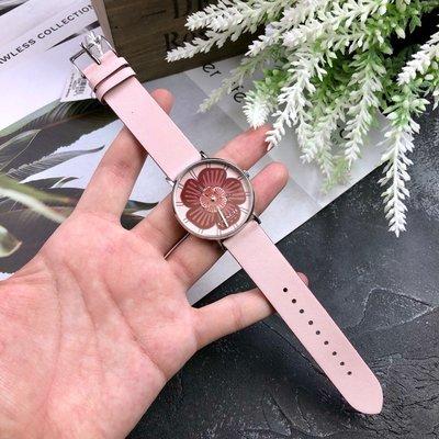 ㊣國際品牌COACH庫㊣COACH 14503231 11月新款【2件免運】茶玫花系列女手錶 真皮腕錶 石英錶