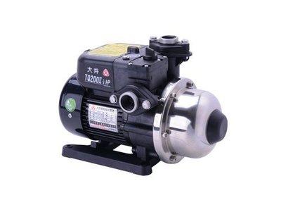 【 川大泵浦 】大井WARLUS TQ-200B*1/4HP電子穩壓加壓馬達*TQ200B*低噪音-不生鏽TQ200