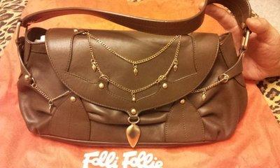 Folli Follie 100%真品 超美 牛皮肩背包(特價品)