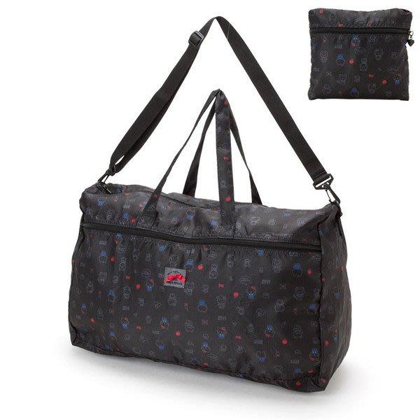 代購現貨 日本三麗鷗Hello Kitty折疊波士頓包  拉桿行李袋