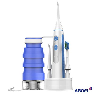 ~*小竹生活*~ABOEL 全能潔牙神器 可攜型電動牙刷沖牙機 (ABB880).牙齒牙醫清潔潔牙智慧USB充電