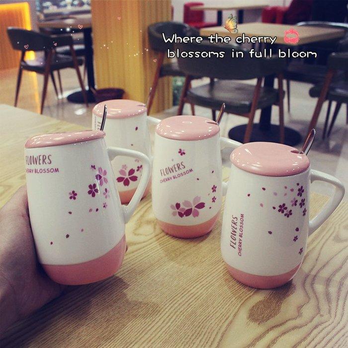 時尚簡約潮人韓版創意卡通公主馬克杯可愛帶蓋帶勺陶瓷杯大容量辦公室喝水杯子