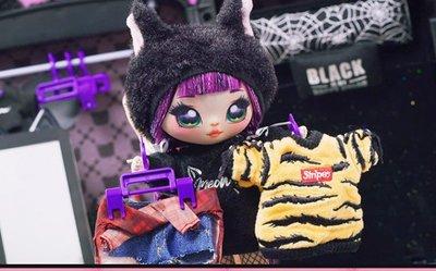 nanana新款驚喜娜娜娜毛絨背包套裝精致可動美發布娃娃女孩玩具包