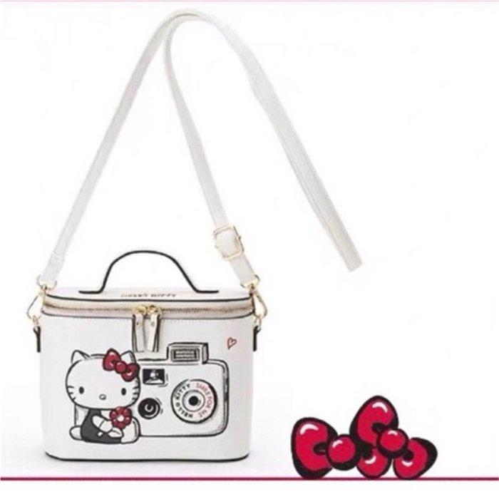♥ 小花日韓雜貨 ♥ -- 新款hello kitty 手提包可愛白色斜背包小包