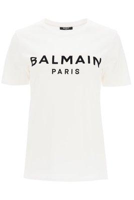 【折扣預購】20秋冬正品Balmain paris 黑色logo短袖T恤 白色短T 棉T-shirt上衣