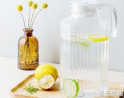 哆啦本鋪 樂美雅玻璃涼白開水壺冷水扎壺大容量家用果汁四方條子雪柜樽涼杯  D655