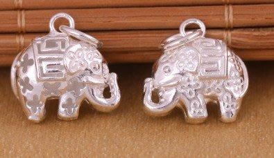 「還願佛牌」泰國 進口 925 純銀 飾品 銀配件 小象 立體 吉祥象