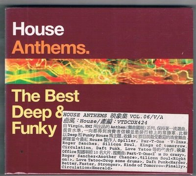 [鑫隆音樂]西洋CD-House Anthems. The Best Deep& Funky -2CD {VTDCDX424}全新
