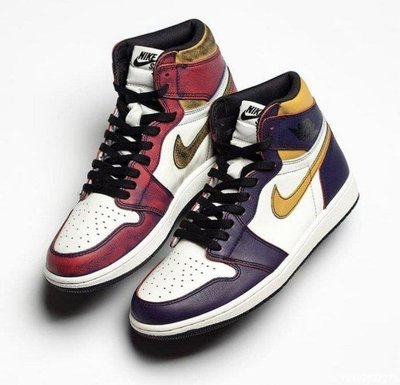 (全新正品)Nike SB x Jordan 1 defiant lakers 刮刮樂 紫金 湖人 芝加哥 CD6578-507