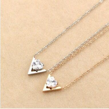 歐美時尚大牌 ❤️ 愛戀系列 鈦鋼項鍊 銀色 玫瑰金 兩色