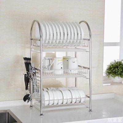 精選 廚房置物架 3層304不銹鋼碗柜晾碗架 瀝水架放碗架碗筷碗碟盤子架