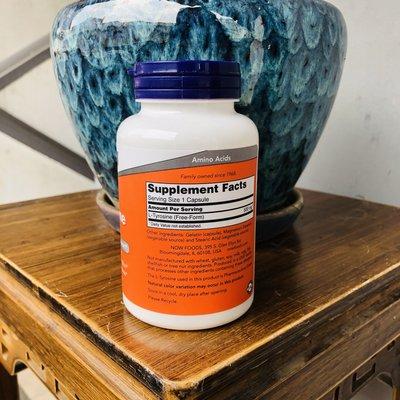 JadeDragon旗艦~23.6美國Now Foods  L-Tyrosine 左旋酪氨酸 護腺功能500mg120粒