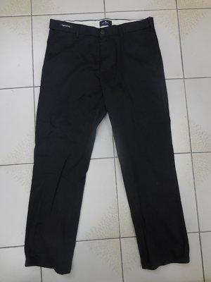(二手)英國瑪莎百貨自有品牌BLUE HARBOUR黑色休閒長褲 (W34)(B405)