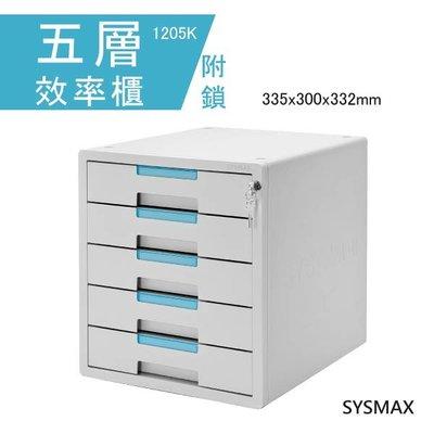【點線面】SYSMAX 五層效率櫃(附鎖) 1205K 置物櫃 文件櫃 公文櫃 收納櫃