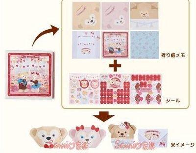 《東京家族》東京海洋迪士尼樂園限定情人節DUFFY達菲熊 雪麗玫 立體 折紙
