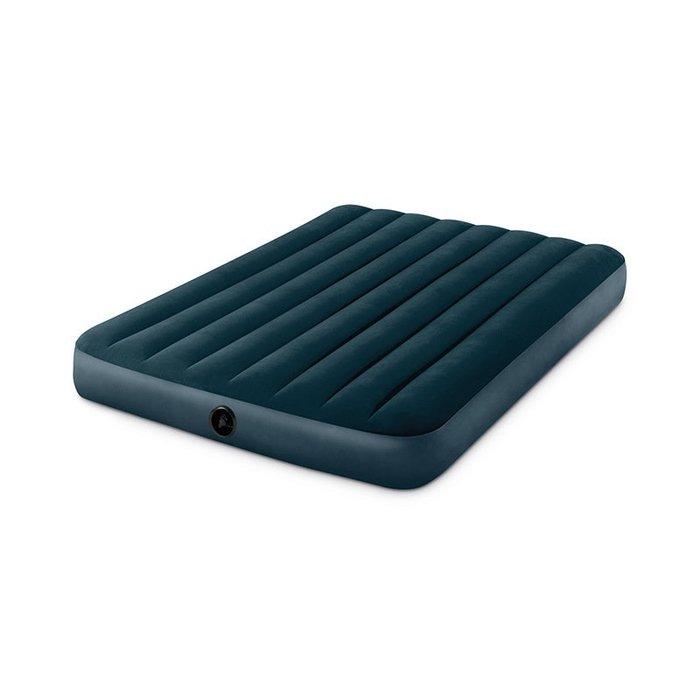 INTEX 64733 綠色植毛線拉雙人床 絨充氣床墊(新款Fiber-TechTM技術)尺寸同 INTEX 68758