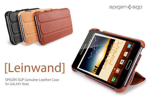 出清  韓國 SGP 三星 Samsung Galaxy Note 超薄 真皮 站立皮套 真皮皮套