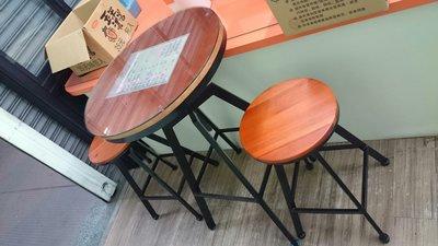 吧檯椅(木)可調高度