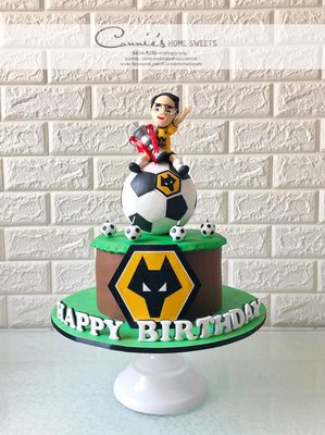【Connie's Home Sweets】狼隊主題生日蛋糕 Wolverhampton Wanderers Football Club, Wolves