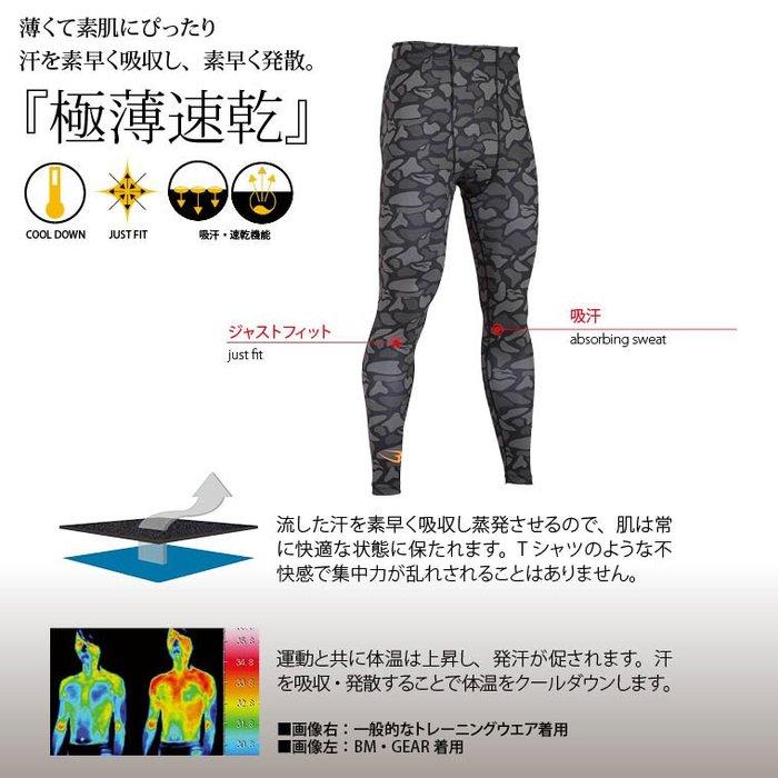貳拾肆棒球--日本帶回小林亮寬之BODY MAKER 迷彩緊身褲/XL