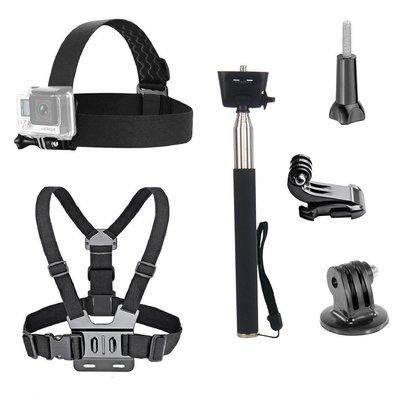 現貨GOPRO通用防水動作相機配件包INSTA360 帶支架 / 胸背帶 / 自拍桿適用於大疆OSMO CATION運動
