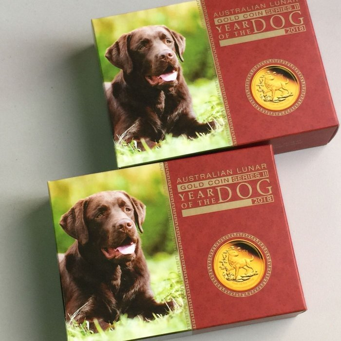 【小麥的店】♥現貨♥澳洲 The Perth Mint 珀斯鑄幣廠2018年狗年生肖金幣 1/10 oz