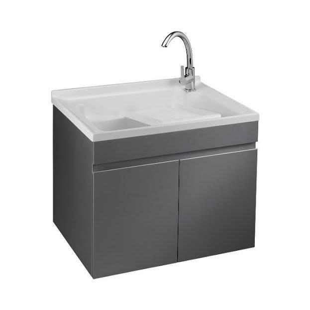 《101衛浴精品》台灣製造 100%全防水 75cm 單槽 人造石洗衣槽 星辰銀鋼琴烤漆 浴櫃組 LC-75【免運費】