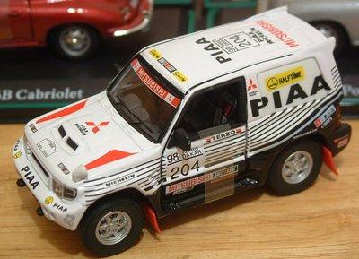 1:43金屬製汽車 三菱Pajero-WRC 白色PIAA仕樣204號車