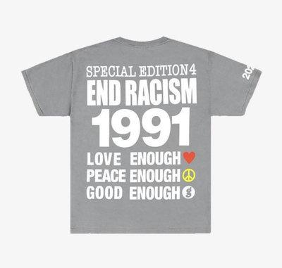 藤原浩限量期間限定 IA X HIROSHI FUJIWARA END RACISM T-SHIRT INFINITE ARCHIVES XL