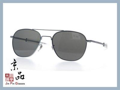 【美國AO】飛官太陽眼鏡 OP 57mm M.BA.CC 霧銀 透明色框 灰色樹酯鏡片 公司貨 JPG 京品眼鏡