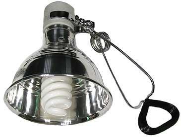 (第2件半價)ZOOLIFE UVB10.0 REPTILE SUN UVB 螺旋燈泡21W + 陶瓷鋁合金製燈罩S