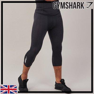 GYMSHARK ELEMENT BASELAYER 3/4 LEGGINGS 七分健身緊身褲-黑