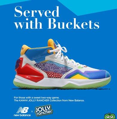 南 2020 10月 New Balance x Jolly Rancher Kawhi 小可愛 籃球鞋 糖果 白藍彩色