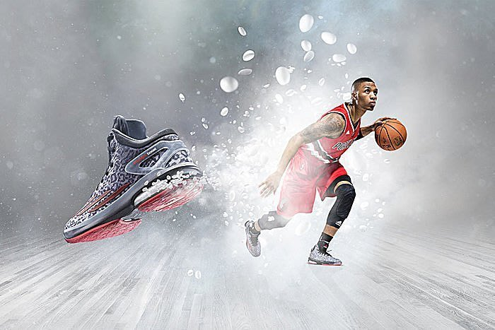 ADIDAS CRAZY LIGHT BOOST D Lillard hi tech 極致輕量化 籃球鞋灰粉紅