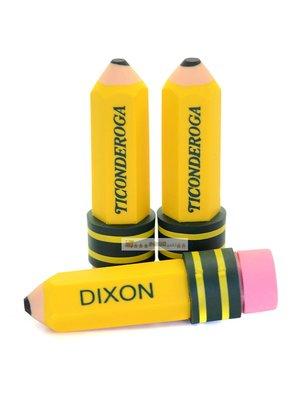 美國進口Dixon Ticonderoga Pencil-Shaped Erasers筆型無乳膠橡皮擦3入(現貨到)