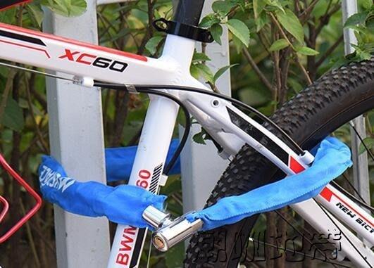 腳踏車鎖山地車防盜鎖鍊條鎖密碼鎖腳踏車鎖電動電瓶車鎖裝備配件