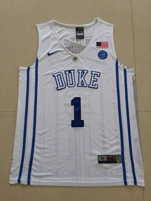 錫安·威廉森(Zion Williamson)NBA美國杜克大學 NCAA Basketball 1號 白色