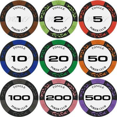港灣之星-德州撲克籌碼百家樂casino拉斯維加斯籌碼幣麻將籌碼片14克麥穗(選項不同價格不同請諮詢喔) 嘉義市