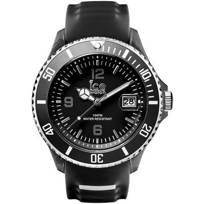 [永達利鐘錶 ] ICE watch 黑色膠帶日期錶SR.3H.BKW.BB.S.15原廠公司保固24個月 51mm