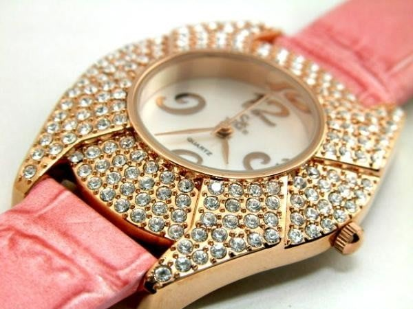 六四三鐘錶精品店=SK=(真品)超美豪華珠寶錶.(日本星辰機芯).錶殼撲滿白水晶鑽.