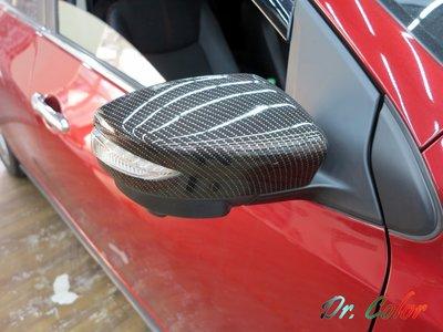 Dr. Color 玩色專業汽車包膜 Nissan Tiida 亮面carbon/黑carbon_引擎蓋/後視鏡/車頂
