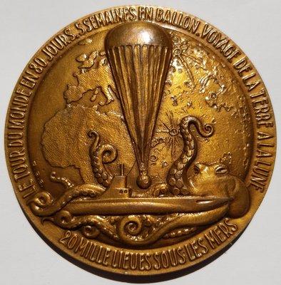 法國銅章 1980 France Jules Verne Protrait Bronze Medal