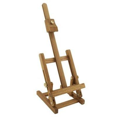 板橋酷酷姐美術!桌上型畫架「中」最大約可放6F、8開大小!木頭製!側邊可調整角度、可平躺收納!收納後約尺寸22*48*5