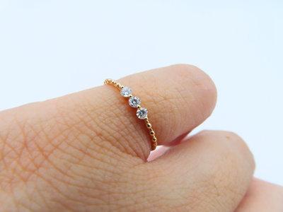 %玉承珠寶%輕珠寶系列14k玫瑰金天然鑽石鑽戒/尾戒DR6(現貨1)