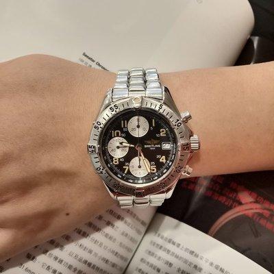 流當手錶拍賣 原裝 BREITLING 百年靈 計時 自動 男女錶 9成5新 喜歡價可議 ZR495
