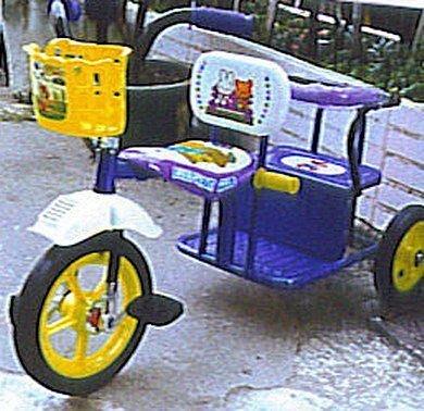 @企鵝寶貝二館@ 夜光雙人三輪車(加重輪胎)~台灣製