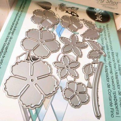 阿里家 scrapbook DIY相冊卡片薄板模具  19083  花朵 卡影