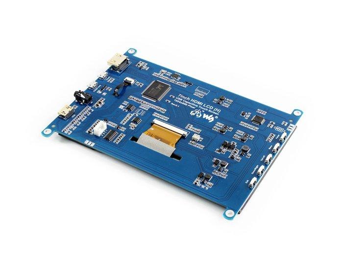 【莓亞科技】樹莓派7吋 1024×600 HDMI LCD (H)電容式觸控螢幕(無外殼, 含稅現貨NT$1988)