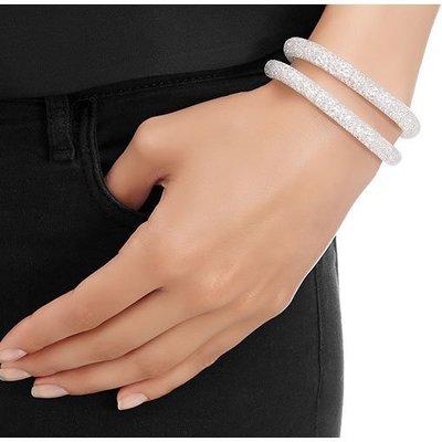 SWAROVSKI 施華洛世奇款 單圈手環-----白色水晶金釦(原價2990元)