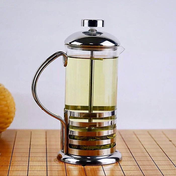 法式濾壓壺 不鏽鋼沖茶器 奶泡 咖啡濾壓壺 茶葉沖泡器 手沖壺 奶泡器 過濾杯 1000ML 【好時優選】
